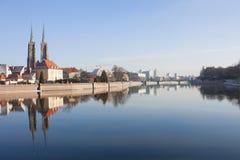 европа Польша Ландшафты Wroclaw Стоковые Изображения