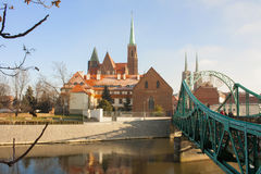 европа Польша Мосты Wroclaw Стоковая Фотография RF