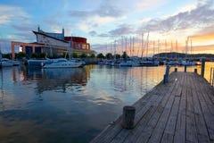 Европа, Скандинавия, Швеция, Гётеборг, оперный театр & гавань Стоковые Фото