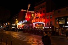 Европа, Франция, Париж Мулен Руж стоковая фотография rf