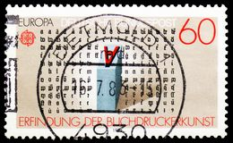 Европа c e P T 1983 - Большие достижения serie человеческого разума, около 1983 стоковые изображения rf