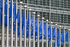 европа flags рядок Стоковые Изображения