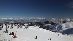 Европа Jasna зимы лыжи Словакии горы снега акции видеоматериалы