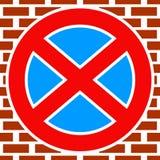Европеец отсутствие знака автостоянки отсутствие значка автостоянки, символа иллюстрация вектора
