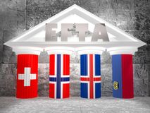 Европейская ассоциация свободной торговли Стоковое фото RF