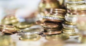 Европейская валюта (банкноты и монетки) Стоковое Изображение RF