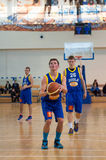 Европейская лига баскетбола молодости Стоковое Изображение RF