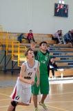 Европейская лига баскетбола молодости Стоковое Изображение