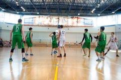 Европейская лига баскетбола молодости Стоковая Фотография RF