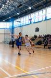 Европейская лига баскетбола молодости Стоковые Фотографии RF