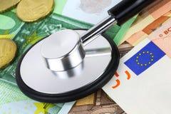 Европейская концепция больного валюты Стоковое Изображение
