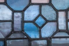 Европейская специализированная часть окна показа перемещения старой церков с римским Стоковое Изображение RF
