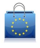 Европейская хозяйственная сумка бесплатная иллюстрация