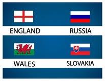 Европейская чашка футбола - группа b Стоковая Фотография RF