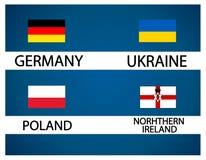 Европейская чашка футбола - группа c Стоковые Фото
