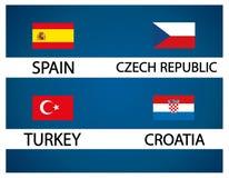 Европейская чашка футбола - группа d Стоковое Фото