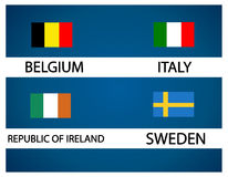 Европейская чашка футбола - группа e Стоковое фото RF