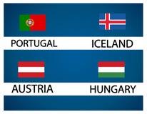 Европейская чашка футбола - группа f Стоковая Фотография RF