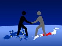 европейская японская встреча бесплатная иллюстрация