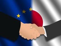 европейская японская встреча Стоковая Фотография RF