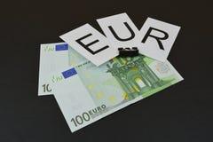 Европейские банкноты с ` EUR ` знака Стоковая Фотография