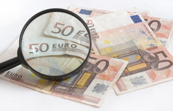 Европейские бумажные деньги, валюта евро от Европы, евро 17-ое апреля 2015 Стоковое Изображение RF