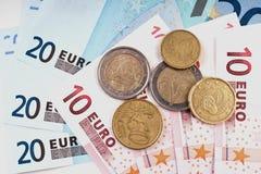европейские деньги Стоковые Изображения RF