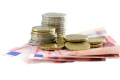 европейские деньги Стоковые Фотографии RF