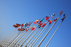 европейские положения флагов Стоковое Изображение