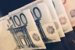 Европейские счеты валюты евро Стоковая Фотография RF