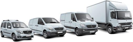 Европейские установленные автомобили неиндивидуального пользования Стоковое Изображение RF