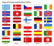 европейские флаги Стоковое фото RF