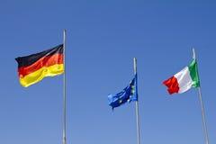 Европейские флаги Стоковое Изображение