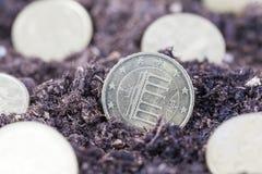 Европейские центы евро стоковая фотография
