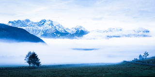Европейские alps Стоковое Изображение RF