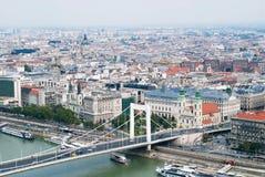 европейский верхний взгляд городка Стоковые Фотографии RF