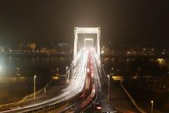 Европейский город на ноче Стоковые Изображения RF