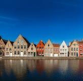 Европейский городок. Брюгге (Brugge), Бельгия Стоковое фото RF