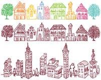 европейский городок Стоковая Фотография RF