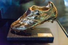 Европейский золотой ботинок, музей Nou лагеря, Барселона, Каталония, курорт Стоковое Изображение RF