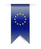 Европейский дизайн иллюстрации знамени флага иллюстрация штока