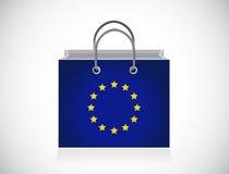Европейский дизайн иллюстрации хозяйственной сумки флага бесплатная иллюстрация