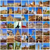 Европейский коллаж ориентир ориентиров стоковое изображение