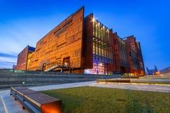 Европейский музей солидарности в Гданьске стоковые фото
