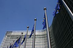 Европейский парламент в Брюссель Стоковые Изображения