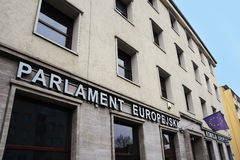 Европейский парламент и европейская комиссия в Wroclaw Стоковое Фото