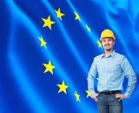 европейский работник Стоковые Изображения