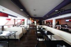 Европейский ресторан в ярких цветах Стоковые Фото