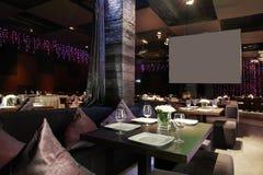 Европейский ресторан в ярких цветах Стоковое Фото