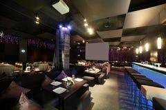 Европейский ресторан в ярких цветах Стоковое Изображение RF